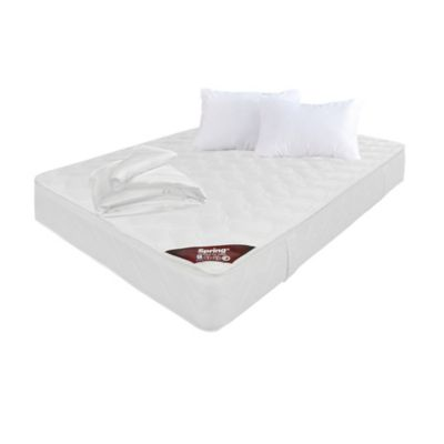 Colchon Semidoble Pillow Top 120x190 cm + Almohada + Protector