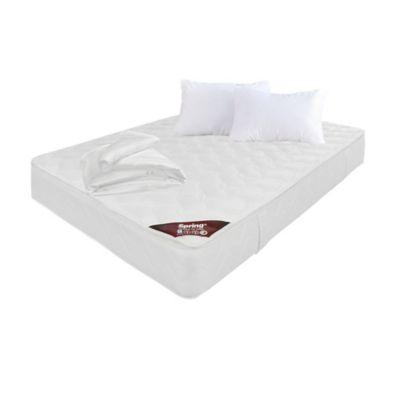 Colchón Pillowtop Doble 140x190cm + 2 Almohadas + Protector