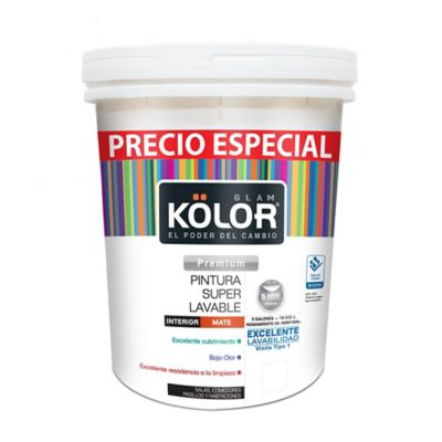 Pintura Para Interior Superlavable Blanco 5 Galones Precio Especial