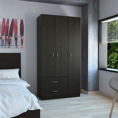 Closet Austral 3 Puertas 47x90x180cm Wengue