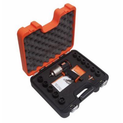 Set Pistola de Impacto Neumática de 1/2 Pulg BP815 + 11 Dados + Conector 1/4 Pulg
