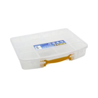 Caja Con Divisiones Y Manija 33,3x5,8x26,2 cm Transparente