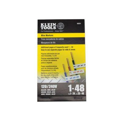 Marcador Cables Trifásicos 120V/240V #1 Al 48