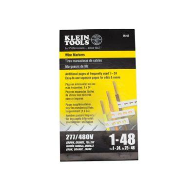 Marcador Cables Trifásicos 277V/480V # 1-48