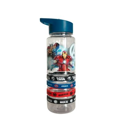Botella Acrilica 750ml Avengers Core Pdq