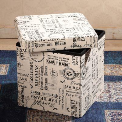 Caja Plegable Puff Paris 38x38x38 cm