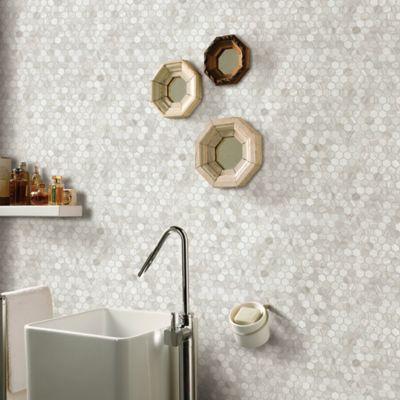 Mosaico Piedra Marmol Beige 30X30cm