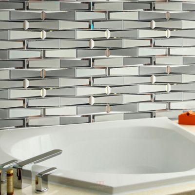 Malla Vidrio Espejo Plata 3D 30x30 centímetros