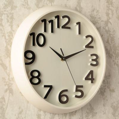 Reloj Solid 33x33 cm Blanco
