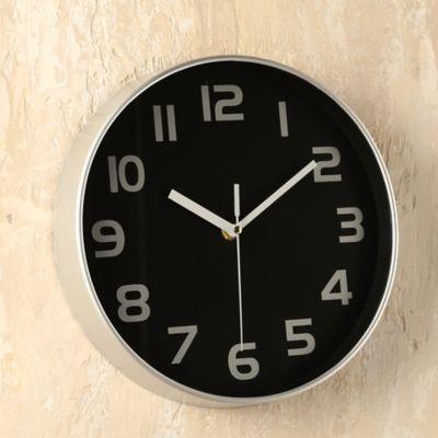 Reloj Total 25x25 cm Negro