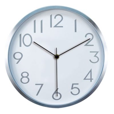 Reloj Cool 30x30 cm Plata