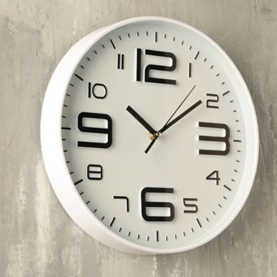 Reloj Big Number 30x30 cm Bco
