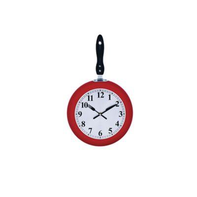 Reloj Cocina Sartén Rojo