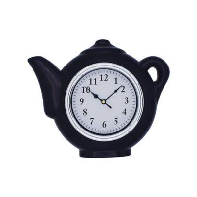 Reloj Cocina Tetera Rojo