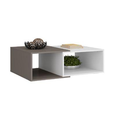 Mesa de Centro 89x60x32,5cm Blanco/Gris