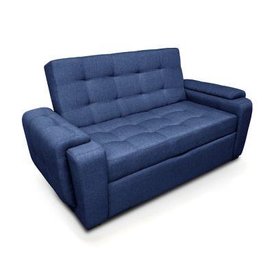 Sofá Cama Vignelli Tela Lino Azul SC10053