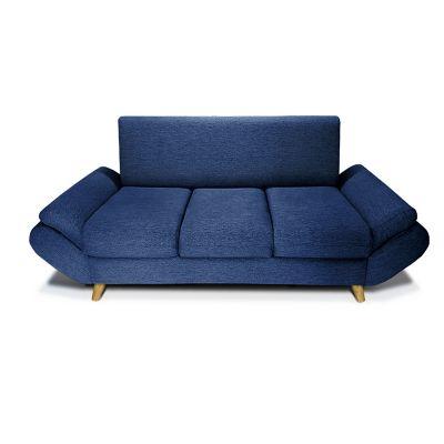 Sofá Jade 3 Puestos Tela Lino Azul  SF00263