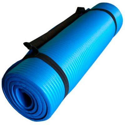 Colchoneta Tapete Yoga Ejercicios Pilates 1 cm Azul