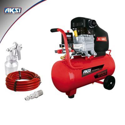 Kit Neumático Profesional Compresor 25 Lts/1500W Con Accesorios
