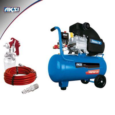 Kit Neumático Semi Profesional Compresor 25 Lts/1500W Con Accesorios