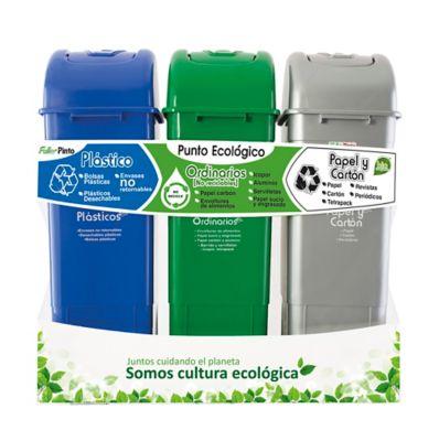 Punto Ecológico 55 Litros Gris-Verde-Azul Ecoplast