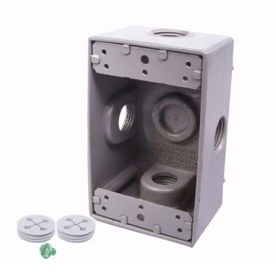 Caja Aluminio 5800 - Rectangular 4 Salidas de 3/4 Pulg X 20 Unds