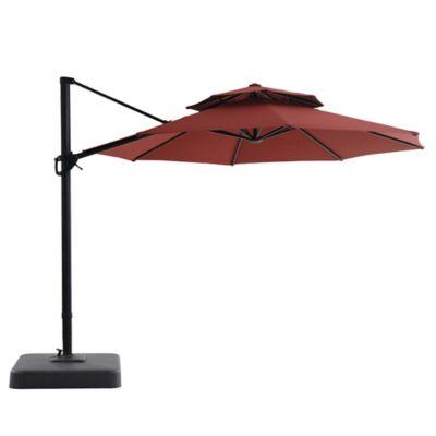 Paraguas Sunbrella Para Jardin Color Rojo