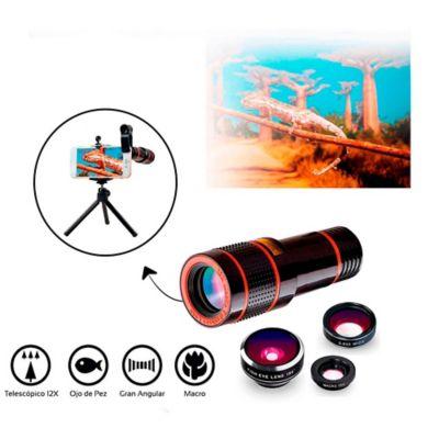 Kit Accesorios De Fotografía Para Smartphone 4 Lentes