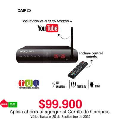 Decodificador Tdt Con Antena Y Acceso Wifi Youtube