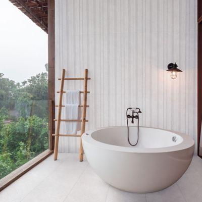 Piso Porcelanato Tempel Row Blanco 40x120 cm caja 1.44 m2