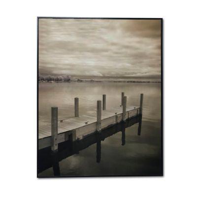 Cuadro Decorativo Enmarcado 50x70x2 cm Muelle y Lago