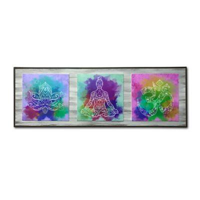 Cuadro Decorativo Enmarcado 67x23x2 cm Colores