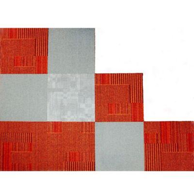 Tapete Modular Caja x 9 Tabletas 50x50 cm BG3 Rojo/Gris