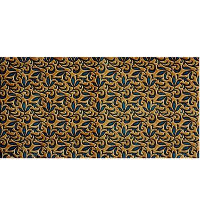 Tapete Modular Caja x 2 Tabletas 91x91 cm CL3 Floral Azul/Amarillo