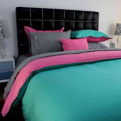 Duvet Lisboa Doble Faz Doble Azul - Rosa