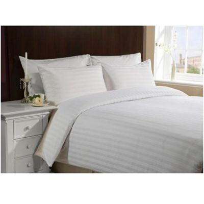 Duvet Sateen Stripe Karytex Queen + Funda Almohadón Blanco
