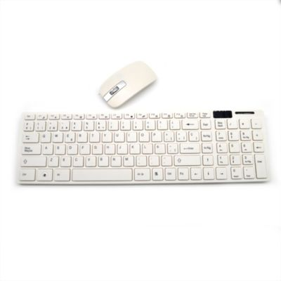 Combo Mouse + Teclado Inalámbrico Blanco 2,4G