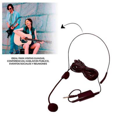 Micrófono Alámbrico Tipo Diadema, Cable De 5 Metros