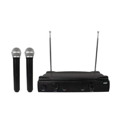 Kit 2 Micrófonos Inalámbricos Con Base Receptora