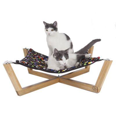 Hamaca para Mascotas de Piso Desarmable 52x52x13 cm Multicolor