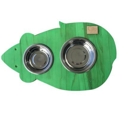 Comedero para Mascotas Ratón Verde