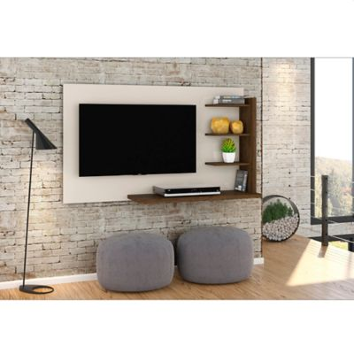 Panel Julia para TV de 42 Pulgadas 136x80x34 Blanco/Savana