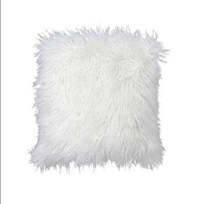 Cojin Decorativo Peluche Color Blanco