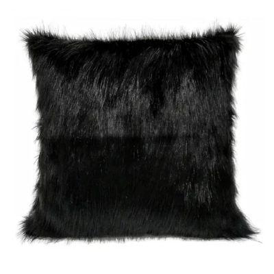 Cojin Decorativo Peluche Color Negro