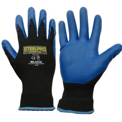Paquete X 12 Unidades Guante Multiflex Nylon N Foam Blue S
