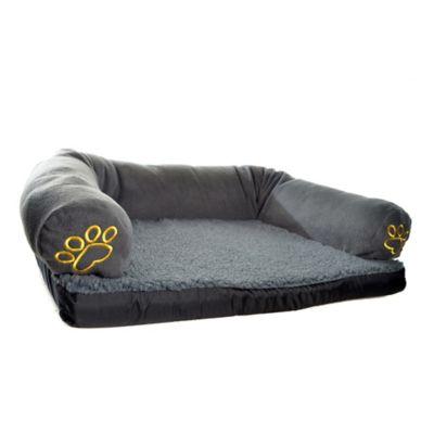 Cama Sofá Gigante de Espuma/Tela 100x70cm Negro