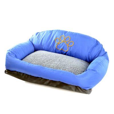 Cama Sofá Pequeña de Tela 63x46cm Azul