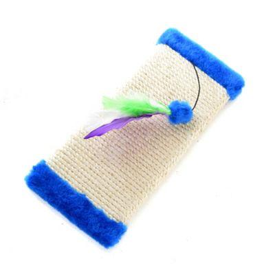 Rascadera Sencilla 40x15cm Borde de Peluche Azul