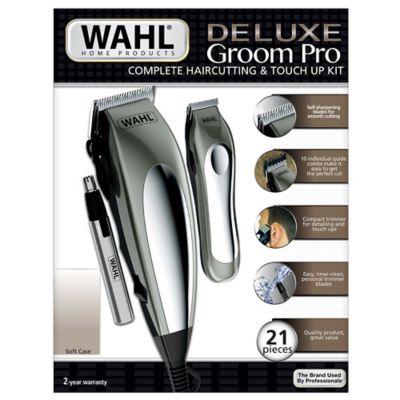 Máquina Cortapelo Deluxe Groom Pro Wahl con Cable 21 Piezas Plateado
