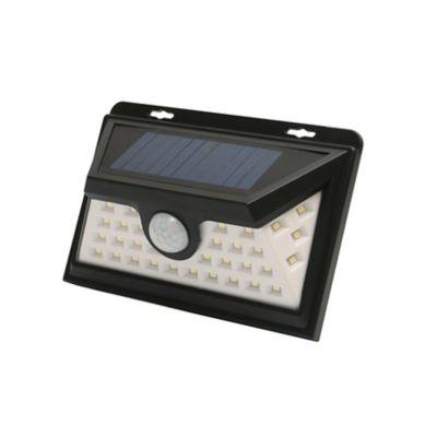 Aplique Solar Sensor Led 1800 Lúmenes 18w Luz Blanca Ip64
